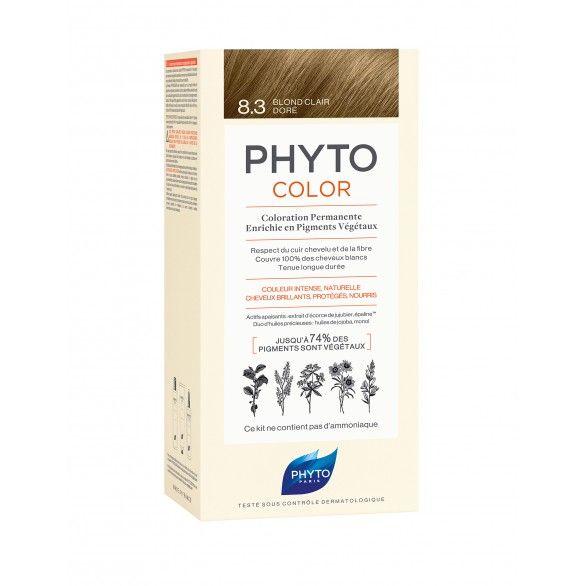 Phyto Phytocolor Coloração Permanente Tom 8.3 Louro Claro Dourado