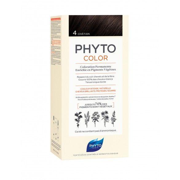 Phyto Phytocolor Coloração Permanente Tom 4 Castanho Escuro