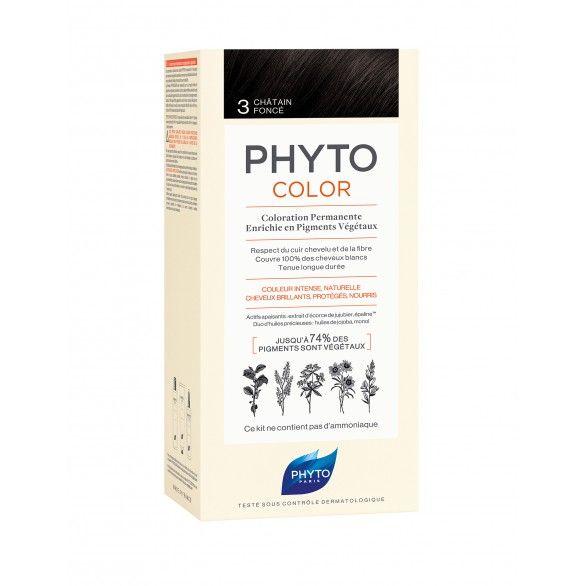 Phyto Phytocolor Coloração Permanente Tom 3 Castanho Escuro