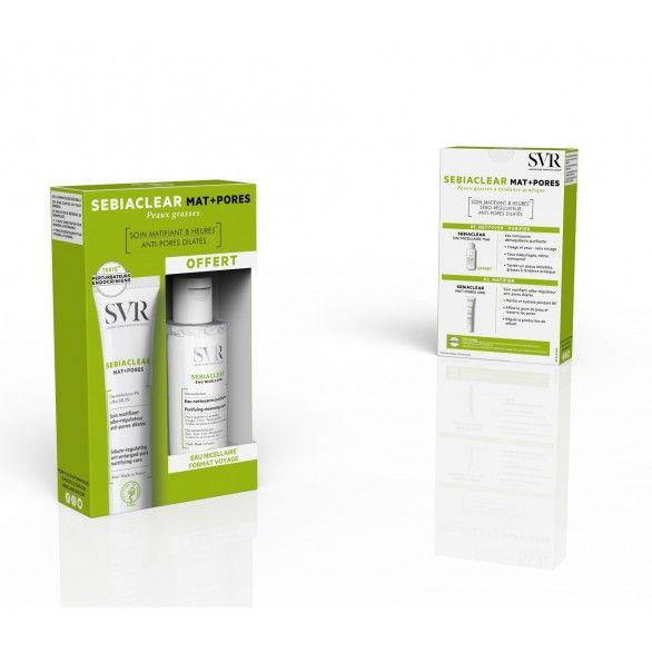 SVR Sebiaclear Mat + Pores Creme Matificante Poros Pele Oleosa Tendência Acneica 40 ml com Oferta de