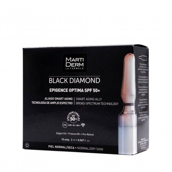 Martiderm Black Diamond Epigence Optima SPF50+ 10 Ampolas