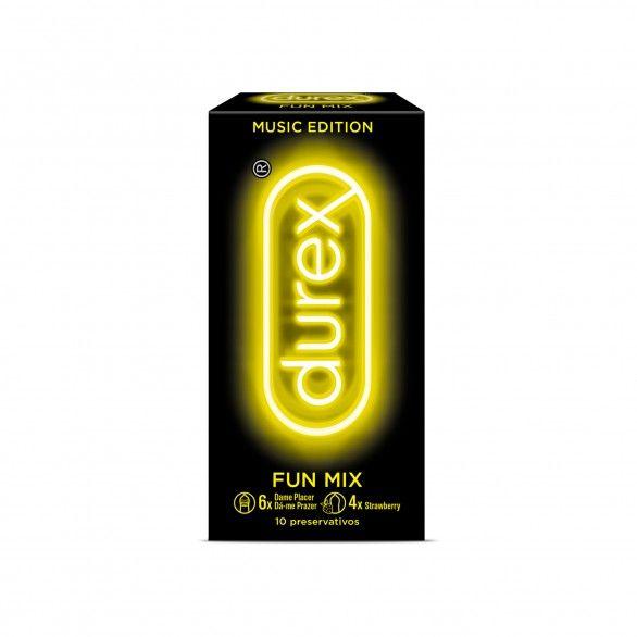 Durex Music Edit Fun Mix Preservativos X10