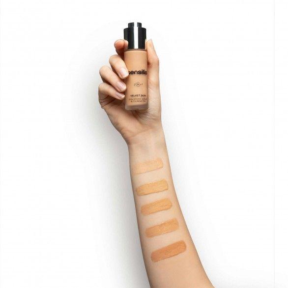 Sensilis Velvet Skin 2-em-1 Base Sérum Hyalu Tom 02 Noix 30ml