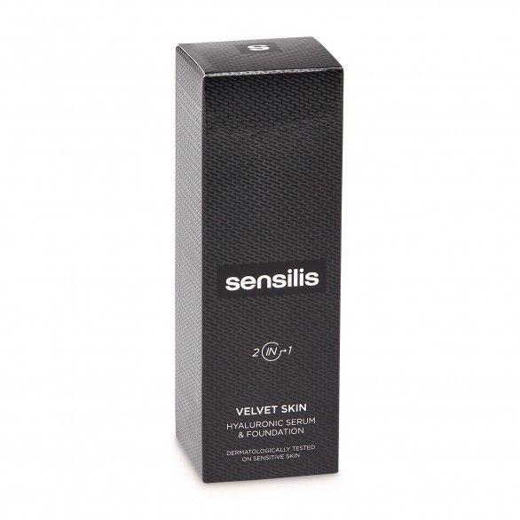 Sensilis Velvet Skin 2-em-1 Base Sérum Hyalu Tom 04 Noisette 30ml