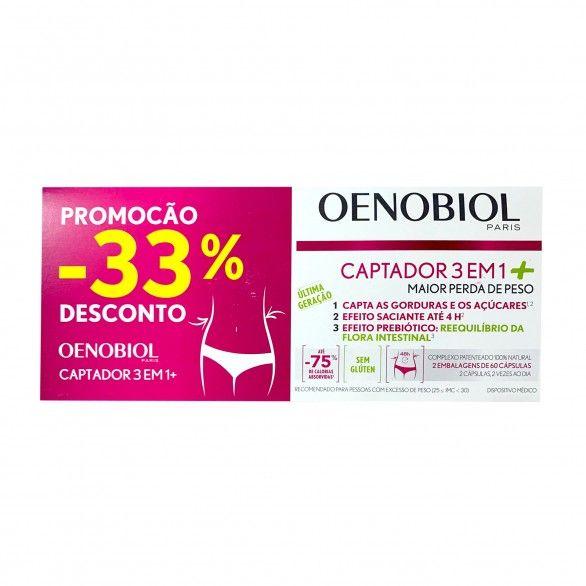 Oenobiol Captador 3em1+ 2x60 Cápsulas