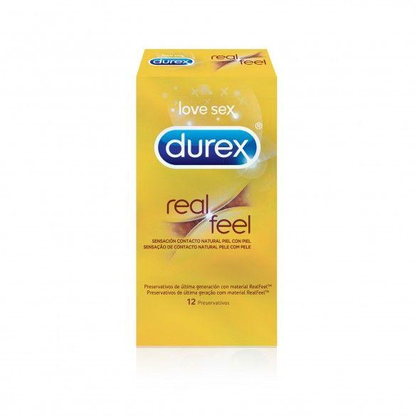 Durex Real Feel Preservativos  X12