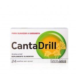 Cantadrill s/ Açucar Pastilhas Rouquidão 24 unidades