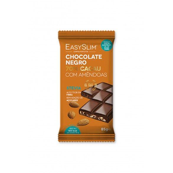 Easyslim Chocolate Negro 70% Cacau Amêndoa 85g