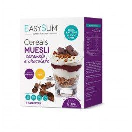 EasySlim Muesli Cereais Caramelo e Chocolate 7x 30g