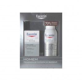 Eucerin Men Bálsamo After Shave 75 ml + Espuma de Barbear 150 ml com Desconto de 70%