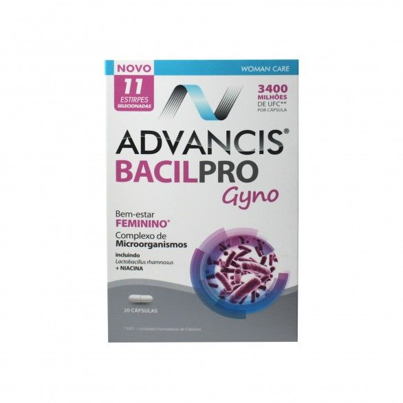 Advancis Bacilpro Gyno 20 Cápsulas