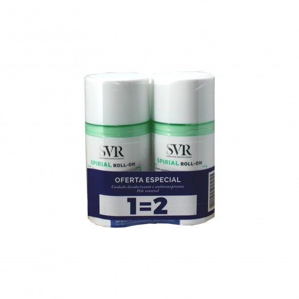SVR Spirial Duo Roll-on desodorizante 2 x 50 ml com Oferta de 2ª Embalagem