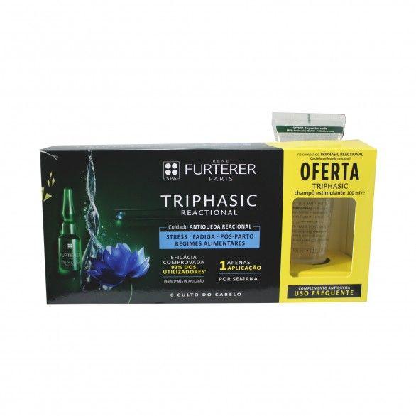 René Furterer Triphasic Reacional 12x5ml + Champô Anti-Queda 100ml