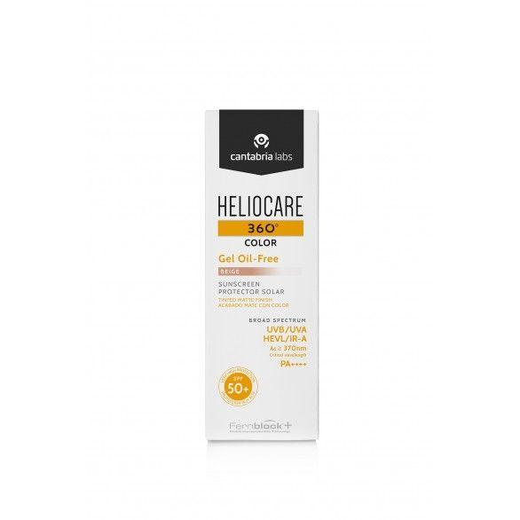 Heliocare 360 Gel Oil Free Tom Beige SPF50+ 50ml