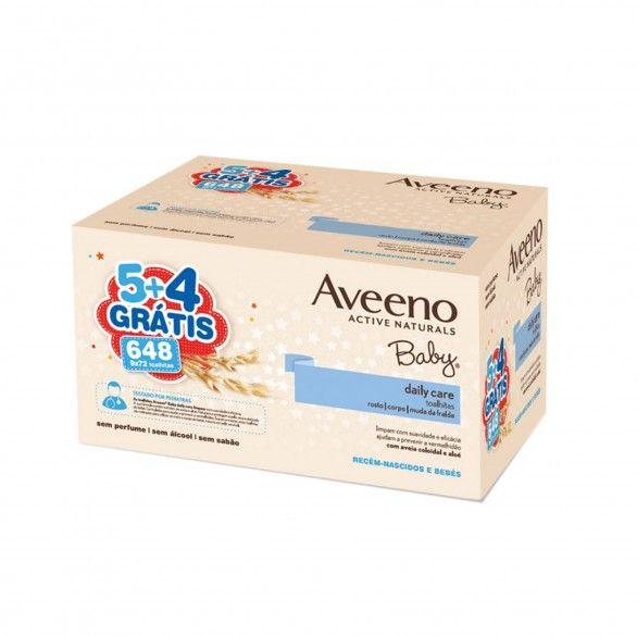 Aveeno Toalhitas Baby Limpeza 9x72 Unidades