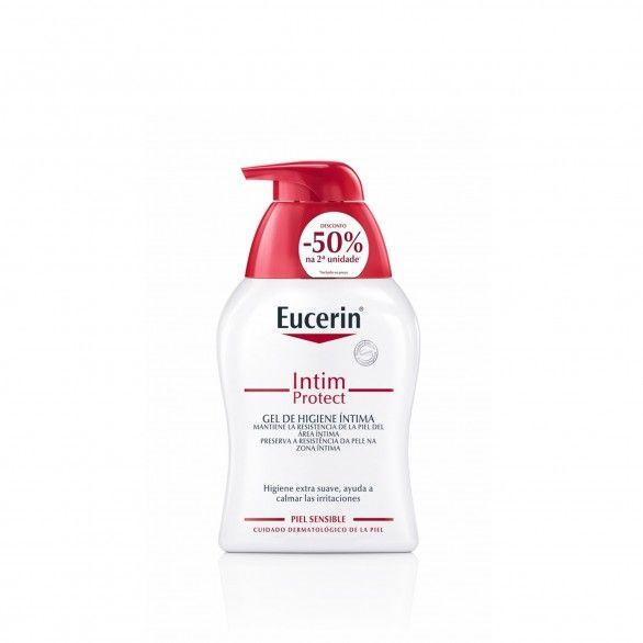 Eucerin Intim Protect Duo Gel Higiene Íntima Pele Sensível 2 x 250 ml com Desconto de 50% na 2ª Emba