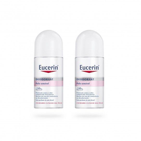 Eucerin Duo Roll-On Desodorizante 24h 2x50ml