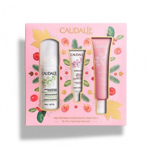 Caudalie Vinosource Coffret Creme Sorbet Hidratante 40ml + Sérum SOS 10ml + Máscara Hidratante 15ml