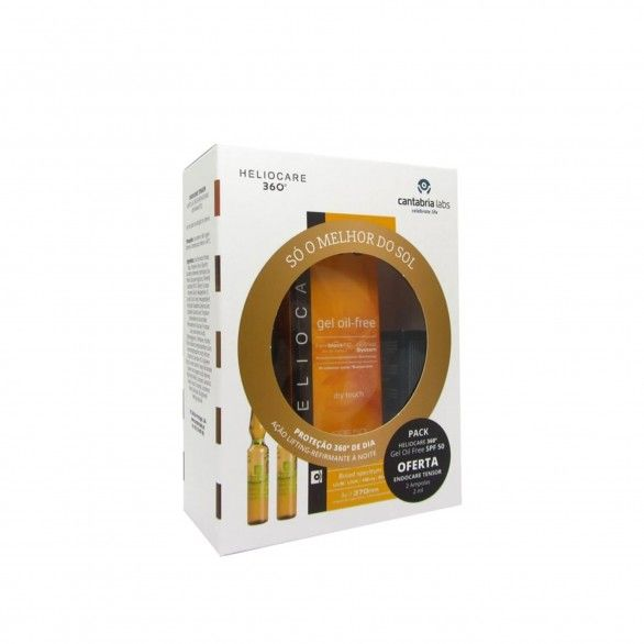 Heliocare 360 Gel Oil Free SPF50 50ml + Endocare Tensor Ampolas 2x2ml Pack
