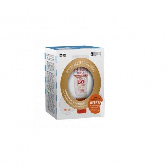 Heliocare Gel Cor Brown SPF50 50ml + Heliocare Compacto Oil Free SPF50 Claro e Escuro 2x2.5g
