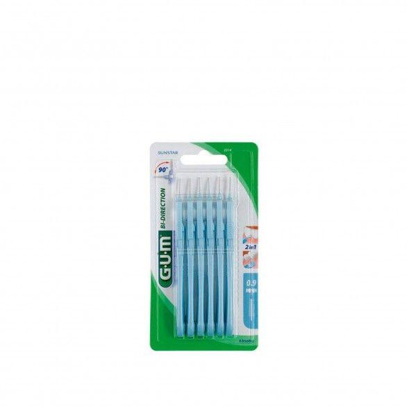 Gum Trav-Ler 2314 Escovilhão Bi-Direction Microfino 6unidades
