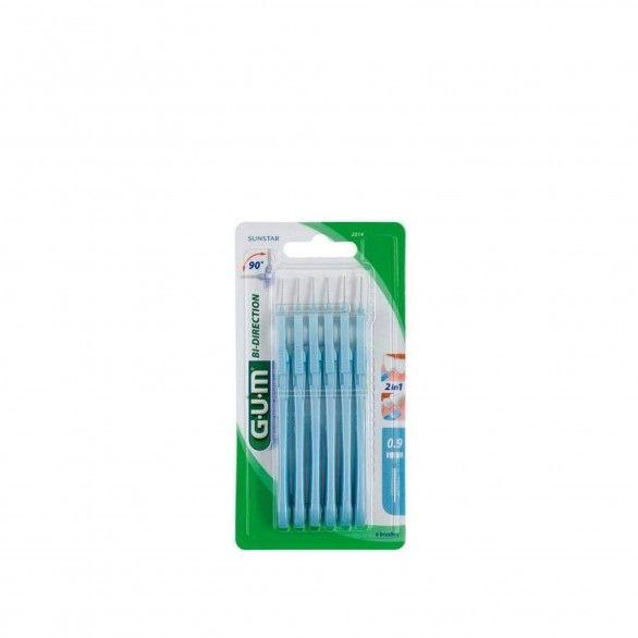 Gum Trav-Ler 2614 Escovilhão Bi-Direction Fino Cónico 6unidades