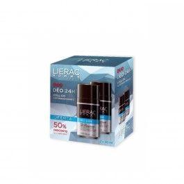 Lierac Homme Duo desodorizante 24h 2 x 50 ml com Desconto de 50% na 2ª Embalagem