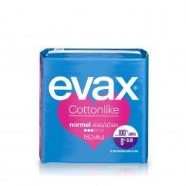Evax Cottonlike Normal com abas 16 unidades