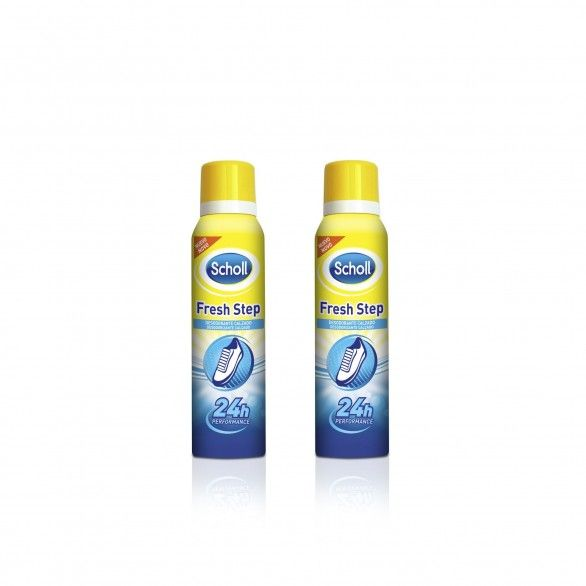 Scholl Fresh Step Spray Desodorizante Pés 2x150ml