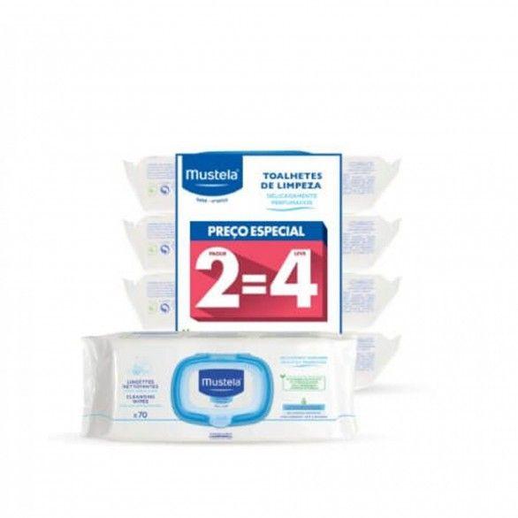 Mustela Toalhetes Limpeza com Perfume 4x70 Unidades
