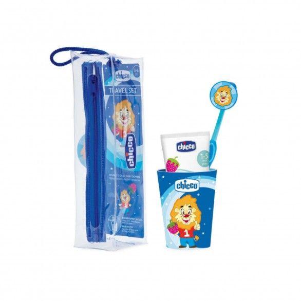 Chicco Conjunto Higiene Oral Azul 3A+