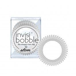 Invisibobble Slim Crystal Clear Elástico Incolor x3