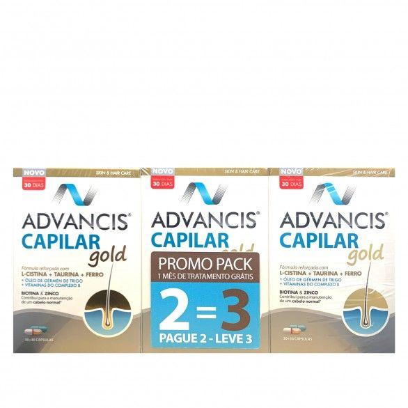 Advancis Capilar Gold Trio 3 x 30 Cápsulas